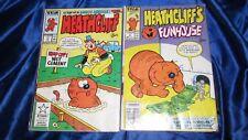 2 Heathcliff Comics Vol.1 No.2 1987 And Vol.1 No. 17 1987 Good Shape In Protecti