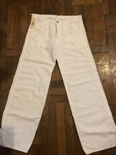 Diesel White Linen/cotton Pants 32  Waist NWT