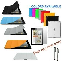 iPad 4 3 2  PU SMART Case Cover + Screen Protector + Companion TPU Case Stylus
