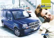 FIAT DOBLO DOBLO 'MALIBU PROSPEKT 11/02 auto PKW Auto prospetto Italia 2002 Europa