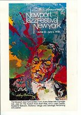 LeRoy Neiman Music Art Poster III for 1978 Newport Jazz Festival  16x11 Unsigned