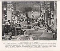 1897 Vittoriano Stampa ~ Madras India ~ Ceramica Officina Uomo Presso Lavoro