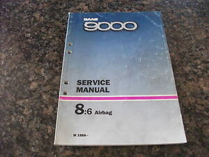 1988- SAAB 9000 Airbag Service Manual