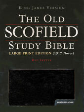KJV Old Scofield Study Bible - Black Bonded Leather Large Print Indexed NEW 1917