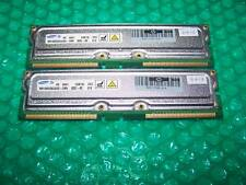 2GB (2x 1GB) Samsung PC800-40 RDRAM RAMBUS RIMM, VERY RARE item