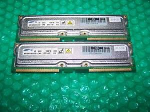 2x 1GB HP Samsung PC800-40 RDRAM RAMBUS RIMM, VERY RARE