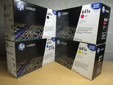 New Genuine Sealed Box HP 641A Toner Set of 4: C9720A C9721A C9722A C9723A