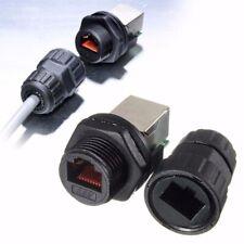 Waterproof RJ45 Connectors Ethernet LAN Network AP Plug Jack Socket 8 Cores US