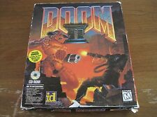 Vintage Doom II - PC CD-ROM Game - Rare 1995 Big Retail Box MS-DOS 5.0 or higher