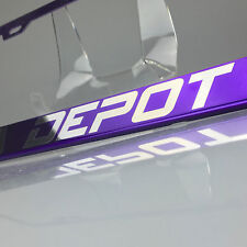 Powder Coated Candy Purple Customize License Plate Laser Engraved Frame Suv Car