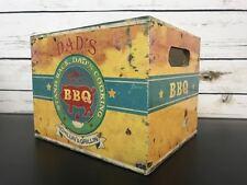 VINTAGE con Padri giorno papà BBQ Garage da uomo man di Archiviazione Strumento Crate Scatola Regalo