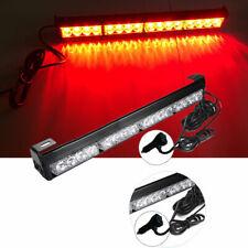 16 LED Red Emergency Warning Lights Bar Flashing Truck Police Strobe Lamp 12V
