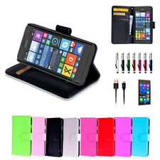 Colour Leather Wallet Case Cover for Nokia Lumia 730 735