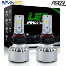 2X Bevinsee PSX24W White LED Headlight Bulbs Fog Light For Jeep Wrangler Patriot