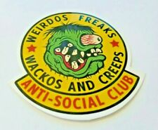 Racing Sticker, Weirdos Freaks, Wackos And Creeps, Anti-Social Club, Rare & Cool