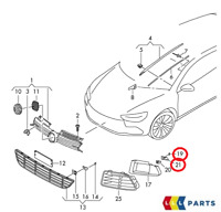 NEW GENUINE VW GOLF 09-13 ADAPTER AND CLIP FOR PARKING DISTANCE CONTROL RIGHT