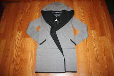 NWT Womens BNCI by BLANC NOIR Gray Hooded Sweater Cardigan Wool XL
