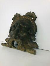 Ancienne tête de fontaine Bronze sculpture masque dieu grec France 18ème