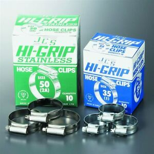 JCS W1 & W4   Hose Clip / Clamp   Worm Drive   Hi-Grip   Stainless steel