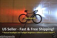 Bike Cycling Front/Head+Tail/Rear LED Light Lamp Set Warning Flashing Waterproof