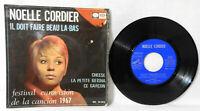"""NOELLE CORDIER """"Il Doit Faeire Beau La-Bas"""" 1967 (Eurovision) 7"""" 45rpm VG/EX!!"""