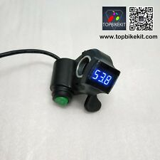 12V-84V Thumb Throttle with Cruise function and LED voltage display for ebike