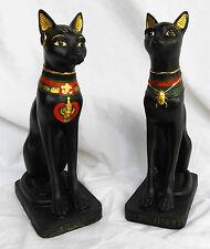 Beautiful Carved Figure of Bastet - Egyptian Cat Goddess - BNIB (d)