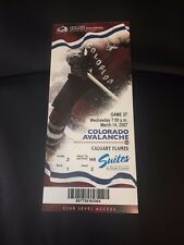 2007 Colorado Avalanche vs Calgary Flames Season Ticket Stub - March 14