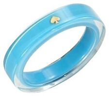 kate spade LUCITE BANGLE bracelet turquoise Blue designer new NY logo jewelry