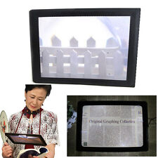 Big A4 Full Page Large Sheet Magnifier Magnifying Glasses Zoom Reading Aid Lens