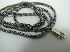 Chain Antique Oxidized Quality 925 silver 30 inch Sterling Silver 3mm Foxtail