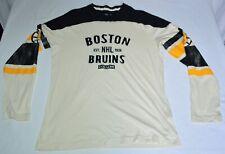 Boston Bruins NHL Hockey CCM Pro OKd Long Sleeve Retro Style Medium Shirt
