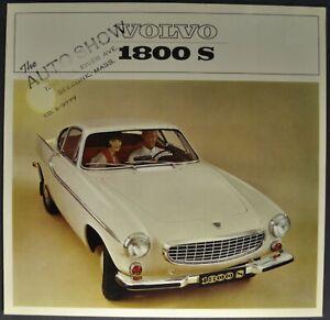 1965 Volvo 1800S Sales Brochure Folder B18-B Coupe Excellent Original 65