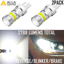 Alla Lighting 7443 72-LED White Rear Turn Signal Light Bulb Blinker|Backup|Brake