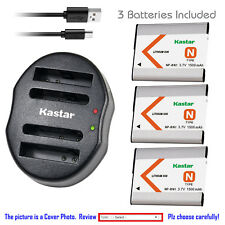 Kastar Battery Dual USB Charger for Sony NP-BN1 BC-CSN Sony Cyber-shot DSC-TX10