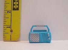 Barbie Doll Size Mattel Miniature Accessory Turquoise Blue Radio Accessory