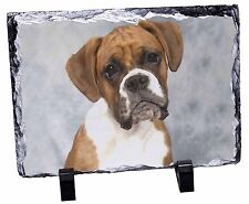 Boxer Dog Photo Slate Christmas Gift Ornament Ad-b1sl