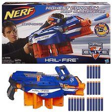 NUOVO Nerf N-Strike Elite GRANDINE INCENDIO-GRANDINE INCENDIO HAILFIRE + ** 30 FREE Freccette **