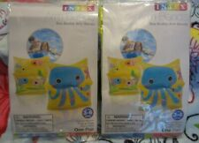 Lot 2 Pair Intex Inflatable Arm Bands Sea Buddy Child Ages 3-6  Floaties