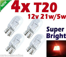 4X T20 LIGHT 12V  21W 5W TAIL Brake Signal Halogen Dual Filament bulb White