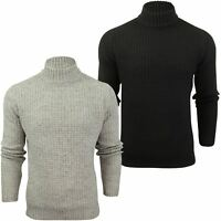 Mens Wool Blend Jumper Turtle Neck  by Xact