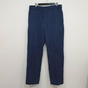 Dickies 874 Original Fit Navy Blue Mens Pants W36 L34 Workwear Zip Fly Trousers