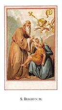 "Pensiero immagine immagine sacro preghiera Immagine Holy card ""h3893"" S. BIAGIO V. M."