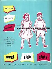 "Stephen Sondheim ""WEST SIDE STORY"" Chita Rivera 1958 London Charity Program"