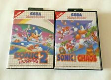 Sonic The Hedgehog 2 & Chaos-Sega Master System Spiele-Tested/Working UK Pal