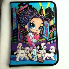 Vintage Lisa Frank Glamour City Girl Poodles Zipper Organizer Folder Legal Pad