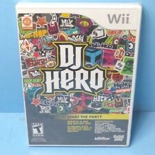 DJ Hero (Nintendo Wii, 2009) BRAND NEW FACTORY SEALED