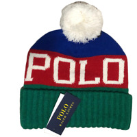 New Polo Ralph lauren men pom pom beanie hat one size