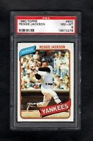 1980 TOPPS #600 REGGIE JACKSON YANKEES PSA 8 NM/MT TOUGH CARD!