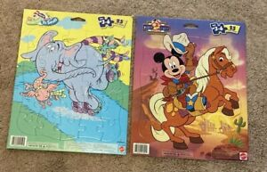 Mickey Mouse & Dr. Seuss Horton Hears a Who Jigsaw Puzzles lot of 2 Mattel